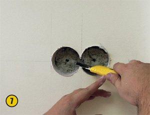 Установка розетки в стену своими руками 24