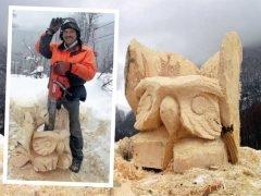 карвинг скульптура бензопилой Шляхтенко Игорь