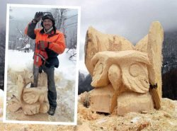 отзывы скульптуры бензопилой Husqvarna мастер-класс