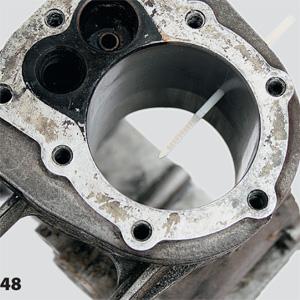 Сверление сквозного отверстия в блоке цилиндра