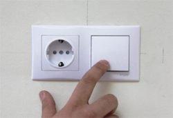 монтаж установка выключателя розетки
