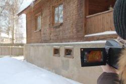 тепловизор поиск утечек тепла в загородном доме