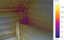 ИК диапазон дом теплопотери искать тепловизор