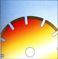 Перегрев круга алмазного диска инструмент