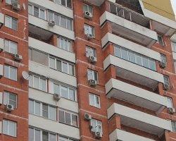 Монтаж кондиционера на фасаде