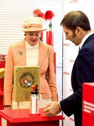 Королева Дании Маргрете II на заводе Rockwool в г. Железнодорожный