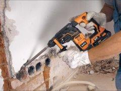 AEG аккумуляторный перфоратор рукоятка виброзащищенная задняя