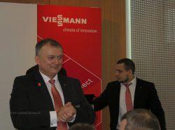 """Мариус Шуберт, генеральный директор """"Виссманн"""", на встрече с партнерами на ISH 2015"""