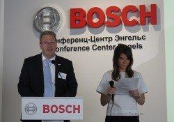 Герхард Пфайфер (Gerhard Pfeifer), президент «Роберт Бош» на открытии завода Еврорадиаторы