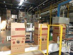 Линия упаковки водонагревателей Аристон