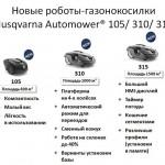 Husqvarna Automower 105, 310, 315 - новые газонокосилки-роботы