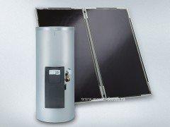 Пакет Viessmann Vitosol 200‑F SVK с солнечными коллекторами, бойлером, обвязкой