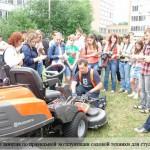 Александр Гончаров: практические занятия по правильной эксплуатации садовой техники для студентов МГУЛ