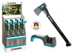 Промо-набор Gardena: малый колун 1600S и заточной комплект