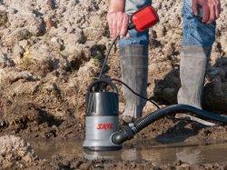 Skil 0810 - дренажный (погружной, подводный) насос для грязной воды (до 35 мм)