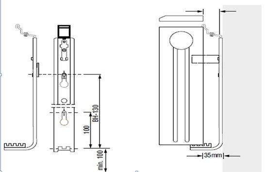 Монтаж радиатора Viessmann любой стороной к стене и от стены