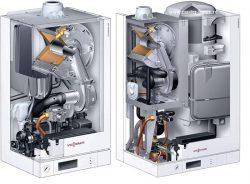 Котел Viessmann Vitodens 100 W тип B1KC греет воду для ГВС