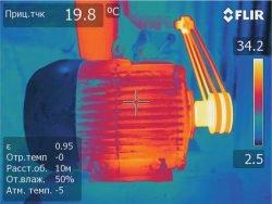 тепловизор снимок двигатель УШМ