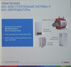 Объем производства завод Еврорадиаторы и Бош отопительные системы