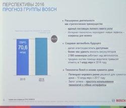 Прогноз Bosch на 2016