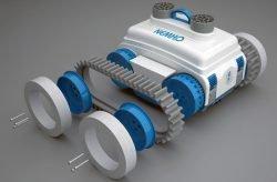 Caiman NemH2O, Nemo – беспроводной робот для чистки бассейнов. Накладки на колеса