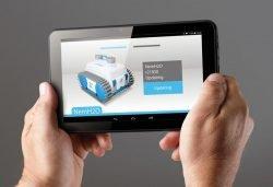 Caiman NemH2O, Nemo – беспроводной робот для чистки бассейнов. Bluetooth-консоль (планшет)