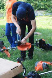 Аккумуляторная травокосилка Husqvarna 536LiRX: практический мастер-класс Хускварна в МГУЛ
