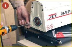 Jet 10-20 Plus - станок шлифовальный, брашировальный. Разборка