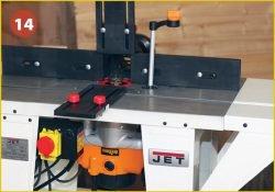 Установка фрезера Triton TRA001 во фрезерный стол Jet JRT‑2. Пример использования