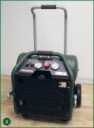 Metabo Power 400-20 W OF – компрессор поршневой одноступенчатый безмасляный. Транспортировочное положение