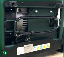 Metabo Power 400-20 W OF – компрессор поршневой одноступенчатый безмасляный. Крепление кабеля