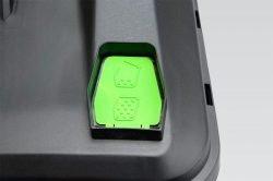 Monferme 25177М - аккумуляторная газонокосилка. Индикатор заполнения травосборника