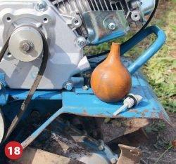 масло залить приспособление двигатель