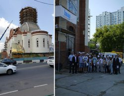 Кнауф и МГСУ храм Андрея Рублева в Раменках