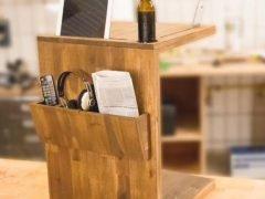 Компактный приставной придиванный столик с инструментами Dremel