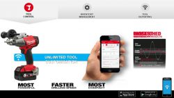 Milwaukee One Key Tool Control регулировка частота вращения крутящий момент инструмент смартфон аккумуляторный конференция 2016 Прага