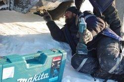 Макита УШМ аккумулятор мороз работа