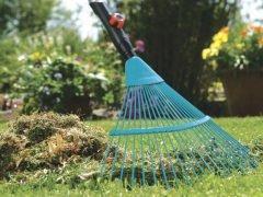 Gardena комбисистема грабли веерные пластиковые насадка