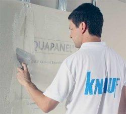 Монтаж плиты Аквапанель Кнауф