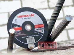 тест отрезных кругов Herman абразивных 230
