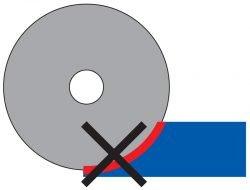 отрезной диск заполировывание не режет