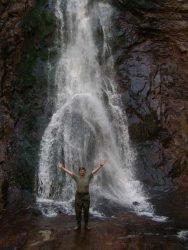 Водопад Амгу река Амгинский тайга