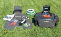 Газонокосилка робот Husqvarna Automower 420 комплектация косилка зарядная станция источник питание провод