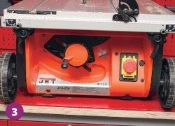 Jet JTS 254 станок циркулярный пила выключатель управление