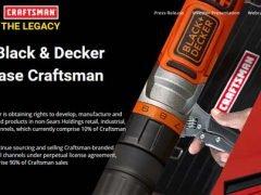 StanleyBlack&Decker Craftsman Sears покупает приобретает бренд Holdings Stanley Black Decker