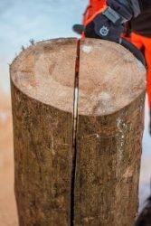 Шведский факел Husqvarna бензопила бревно разрез вертикальный