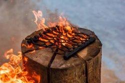 Шведский факел Husqvarna подставка металлическая