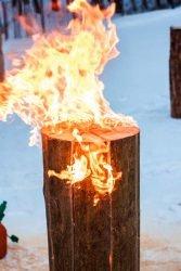 Шведский факел Husqvarna пламя устойчивое бревно