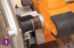 Triton TTS1400 пила погружная дисковая переключатель режим
