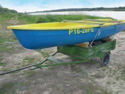 перевозка лодки прицеп от мотоблока